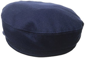 Aegean Unisex Wool Greek Fisherman's Cap, Navy, 6 7/8