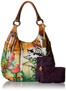 Anuschka Handpainted Large Shoulder Hobo