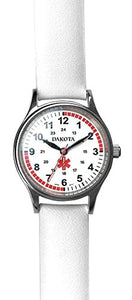Dakota 56548 Nurse Watch- Women's- Leather- White