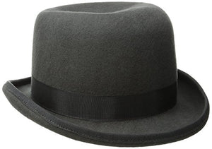 Scala Men's Wool Felt Derby Hat, Charcoal, Large