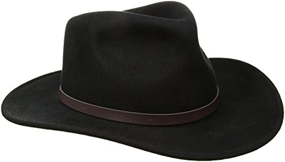 Scala Classico Men's Crushable Felt Outback Hat, Black, Medium