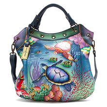 Anuschka Handpainted Leather Multi Pocket Convertible Tote