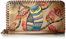 Anuschka, Handpainted Leather Zip Around Wristlet With Removable Strap Wallet
