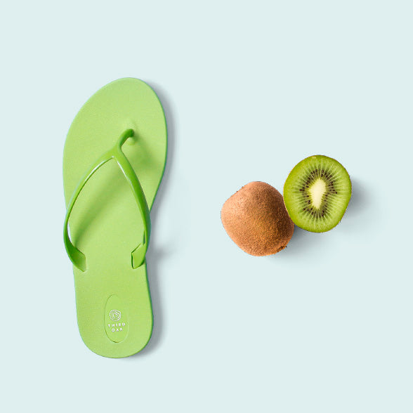 Kiwi Women's Green Flip Flops by Third Oak