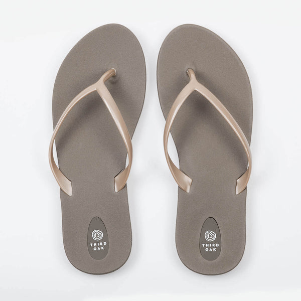 Scout Brown And Gold Womens Flip Flops-5847