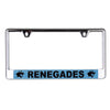 Dallas Renegades Laser Cut Acrylic License Plate Frame