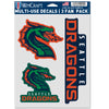 Seattle Dragons 3 Pack Multi-Use Decals