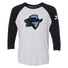 Dallas Renegades Logo 3/4 Sleeve Raglan