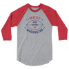 Seattle Official XFL Football Raglan 3/4 Sleeve Shirt