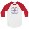 New York Official XFL Football Raglan 3/4 Sleeve Shirt
