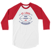 St. Louis Official XFL Football Raglan 3/4 Sleeve Shirt