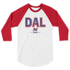 Dallas Official XFL Raglan 3/4 Sleeve Shirt