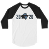 Dallas Renegades Inaugural 2020 Raglan 3/4 Sleeve Shirt
