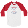 Dallas Official XFL Football Raglan 3/4 Sleeve Shirt
