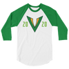 Tampa Bay Vipers Inaugural 2020 Raglan 3/4 Sleeve Shirt