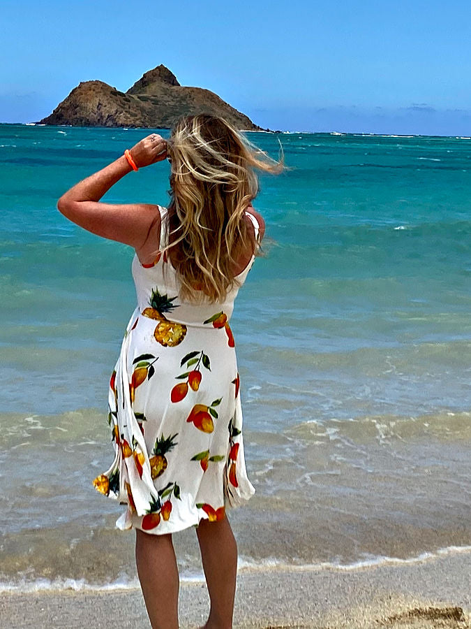 women's clothing mango print summer dress hawaii
