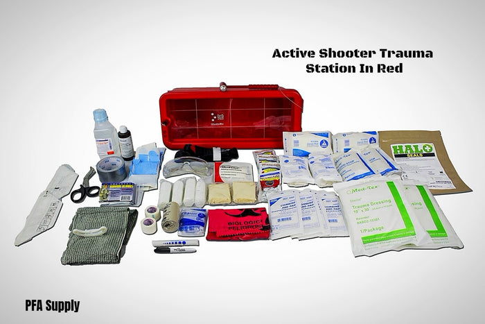 Red Active Shooter Trauma Management Kit