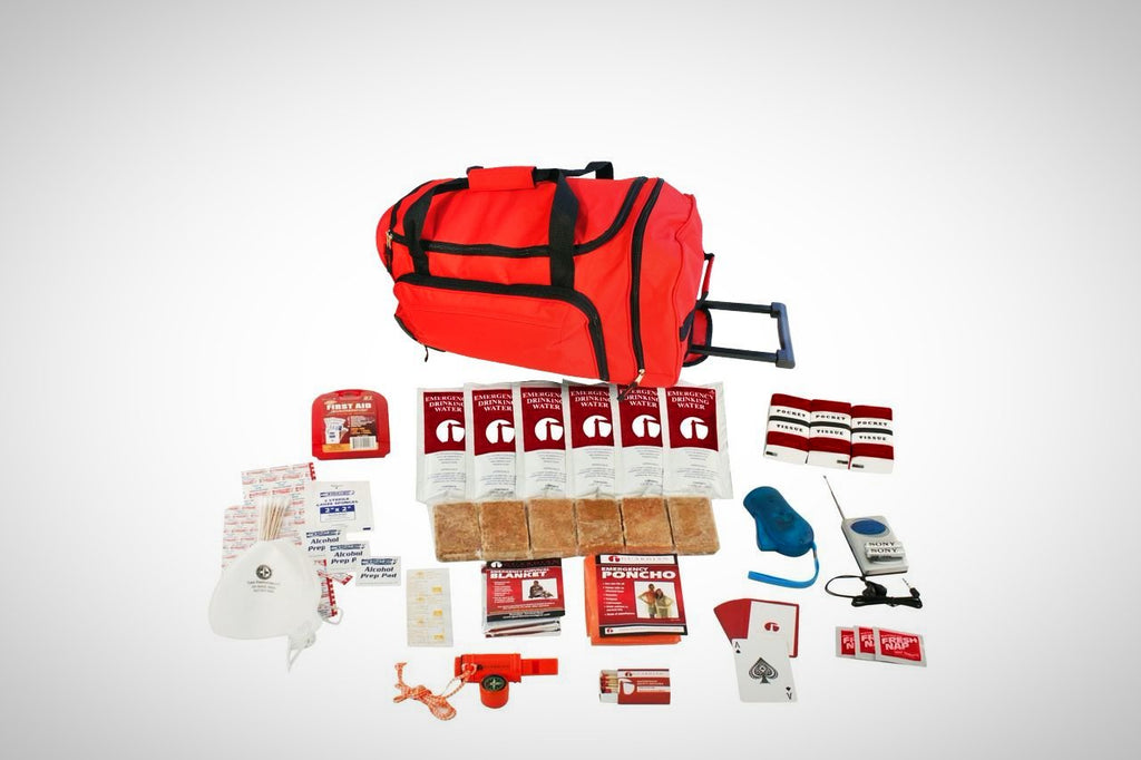 1 Person Survival Kit in Large Wheel Bag