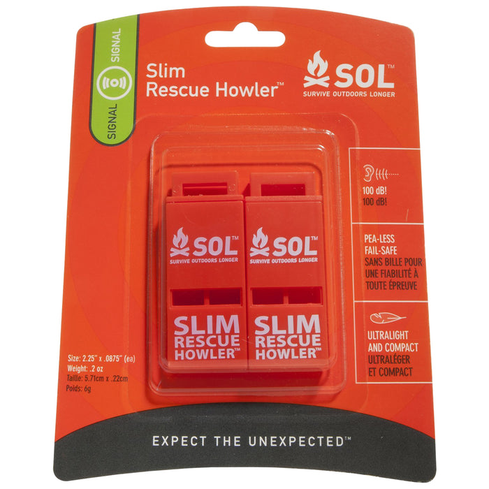 Adventure Medical Slim Rescue Howler Whistle /2