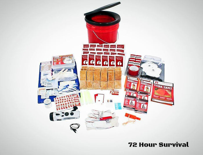 4 Person Elite Bucket Survival Kit (72+ Hour)