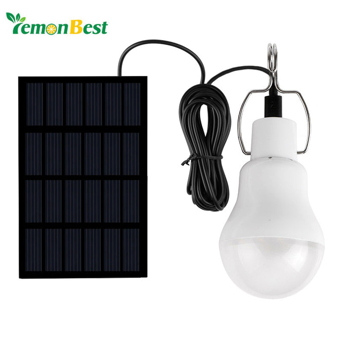 Solar LED Light Source Panel and Bulb Set