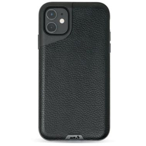 Mous Contour Black Leather Case for iPhone 11