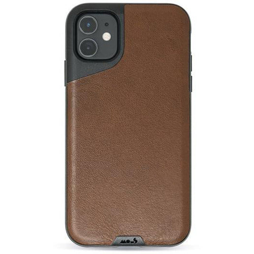 Mous Contour Brown Leather Case for iPhone 11