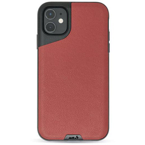 Mous Contour Red Leather Case for iPhone 11