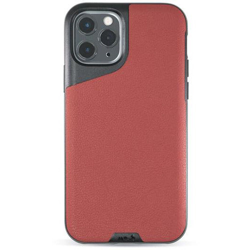 Mous Contour Red Leather Case for iPhone 11 Pro Max