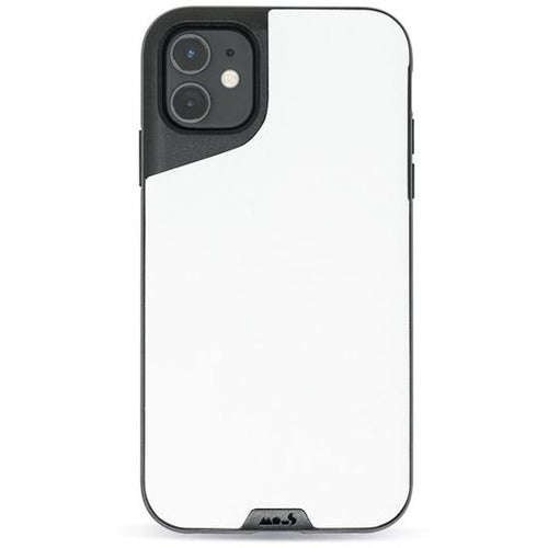 Mous Contour White Leather Case for iPhone 11