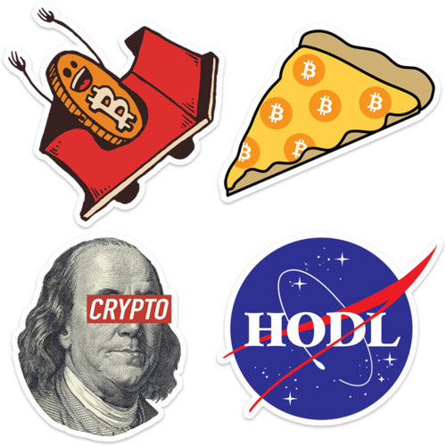 Crypto Fun Stickers 4-Pack