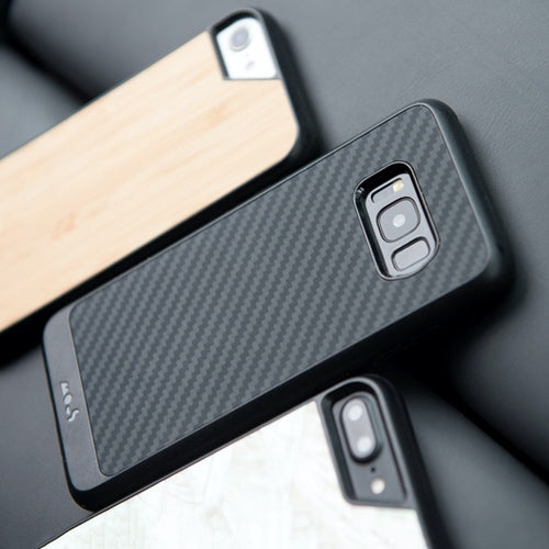 reputable site 2fea7 4d6fb Mous Limitless 2.0 Real Aramid Carbon Fibre Case for Samsung S8 With  Triple-Layered High Quality Screen Protector