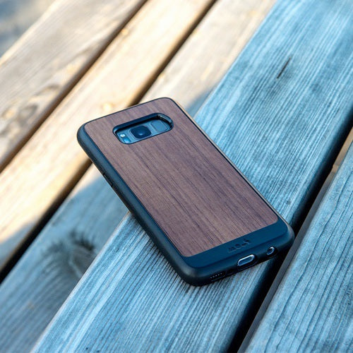 buy online 15216 bdc2a Mous Limitless 2.0 Real Walnut Case for Samsung S8 Plus With Triple-Layered  High Quality Screen Protector