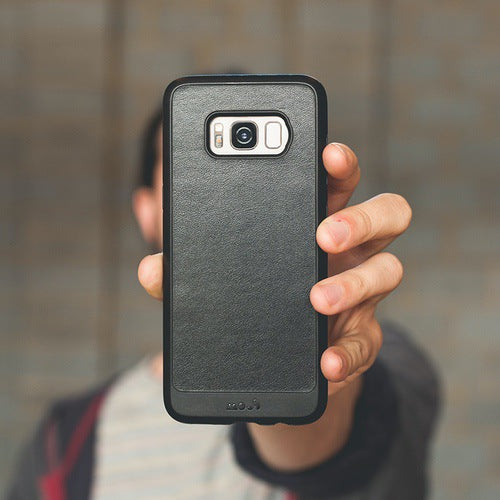 Mous Limitless 2.0 Real Black Leather Case for Samsung S8 Plus
