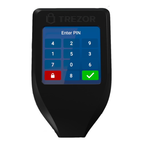 TREZOR model T Bitcoin Hardware Wallet in India - Authorized Reseller