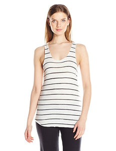 Riley Racerback Tank- Ivory/Ink Stripe - Shirts - The Valley Boutique - Canada Online Shopping