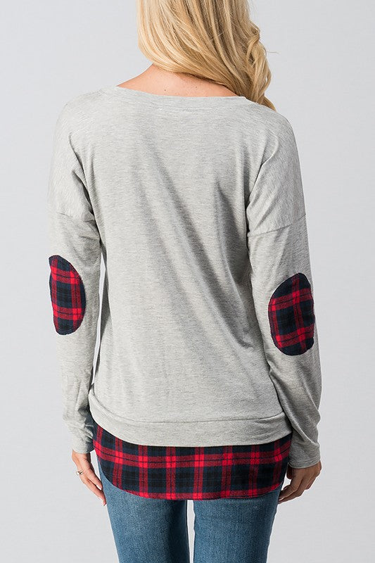 Warren Peekaboo Plaid Long-Sleeve Top - Shirts - The Valley Boutique - Canada Online Shopping