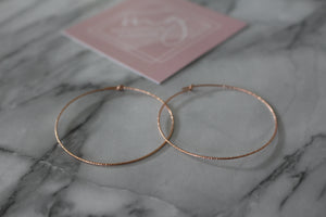 "Magnolia Giroux 1 3/4"" Hoop Earrings - Jewellery - The Valley Boutique - Canada Online Shopping"