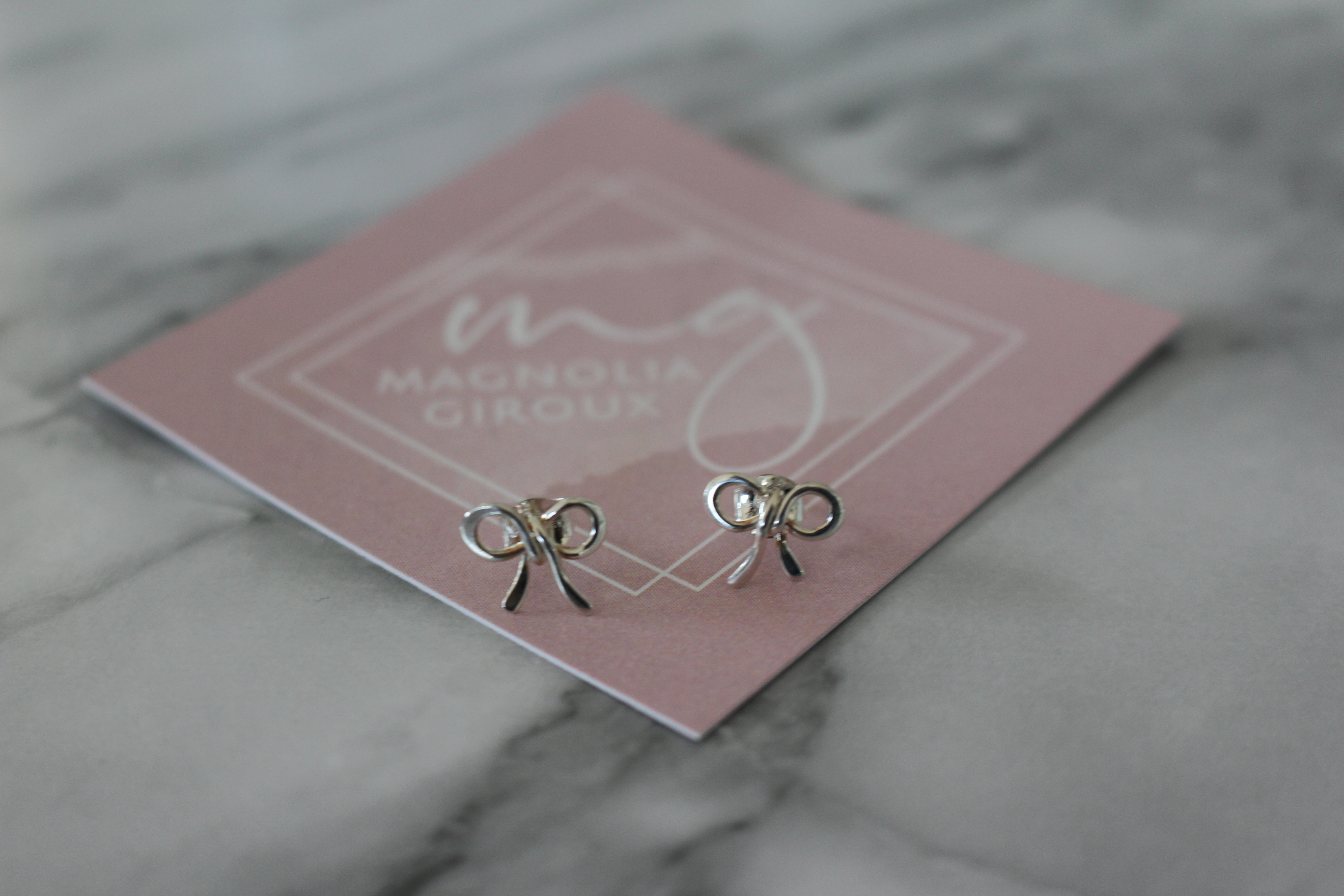 Magnolia Giroux Sterling Silver Bow Earrings - Jewellery - The Valley Boutique - Canada Online Shopping