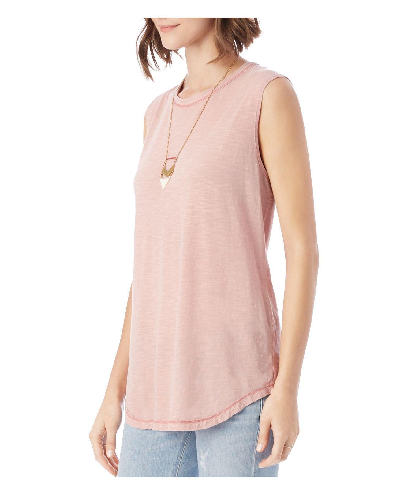 Blair Basic Muscle Tank- Rose - Shirts - The Valley Boutique - Canada Online Shopping