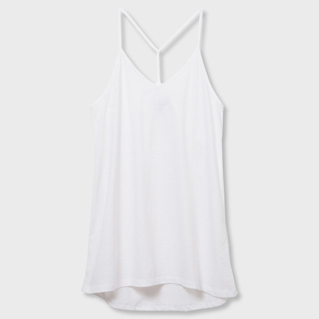 Dallas Strappy Tank- White - Shirts - The Valley Boutique - Canada Online Shopping