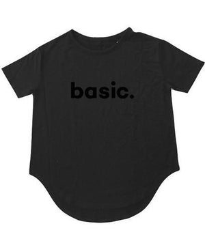 """BASIC"" T-Shirt- Black - Shirts - The Valley Boutique - Canada Online Shopping"