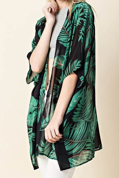 Tropics Kimono Cardigan - Shirts - The Valley Boutique - Canada Online Shopping