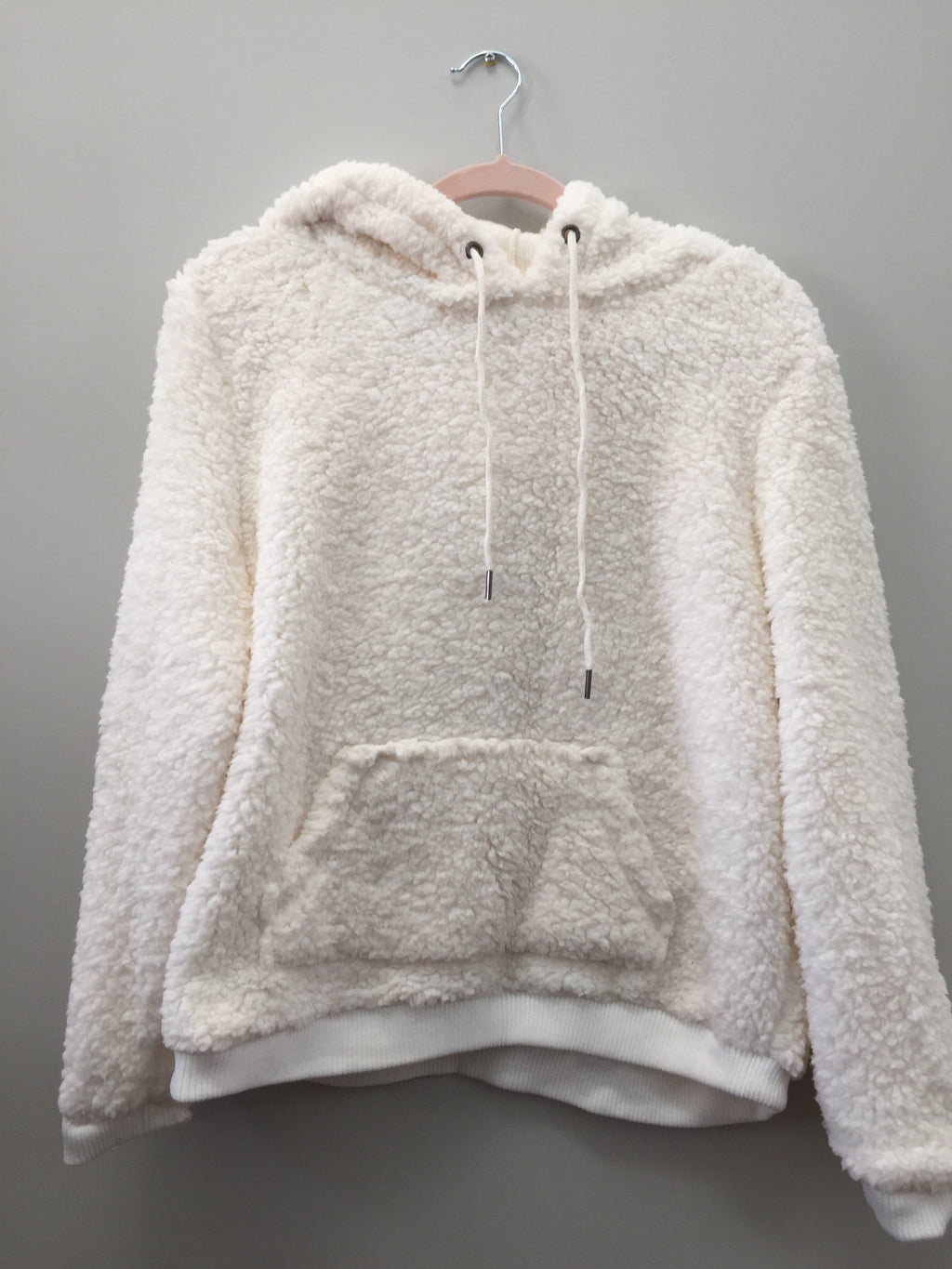 Devon Teddy Bear Hoodie- Ivory - Sweatshirt - The Valley Boutique - Canada Online Shopping