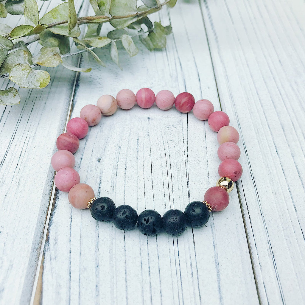 Rhodonite Diffuser Bracelet - Jewellery - The Valley Boutique - Canada Online Shopping
