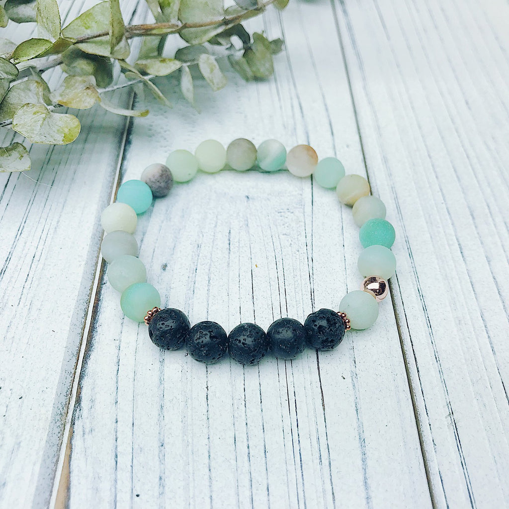 Amazonite Diffuser Bracelet - Jewellery - The Valley Boutique - Canada Online Shopping
