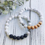 Howlite + Cedarwood Bracelet - Bracelet - The Valley Boutique - Canada Online Shopping