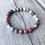 Artistic Jasper + Sandalwood Bracelet - Bracelet - The Valley Boutique - Canada Online Shopping