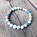 Amazonite + Howlite Bracelet - Bracelet - The Valley Boutique - Canada Online Shopping