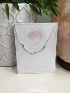 Magnolia Giroux Silver Wishbone Necklace - Jewellery - The Valley Boutique - Canada Online Shopping